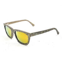 Sunglass hinges hand made stone best color wooden printed lens sunglasses