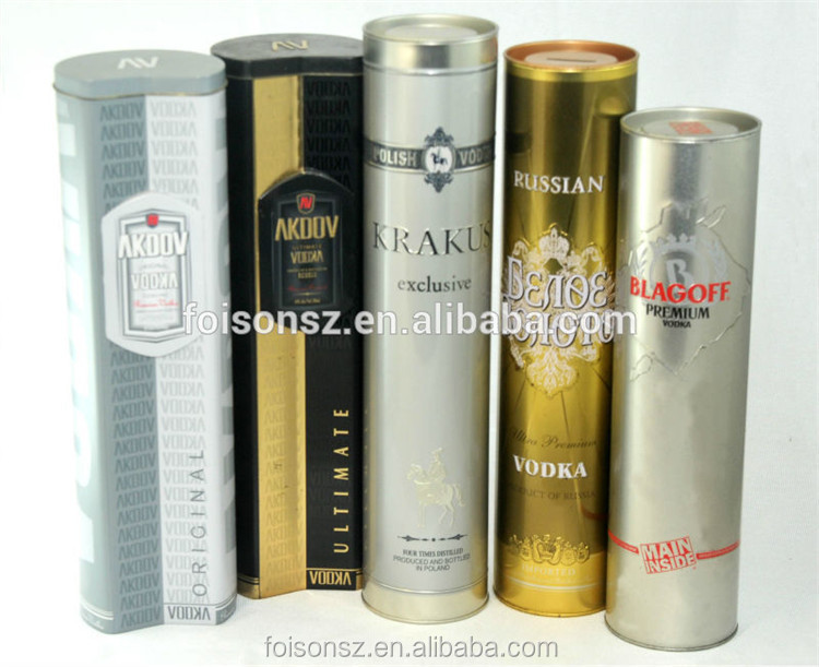 customized high quality red wine tin tube
