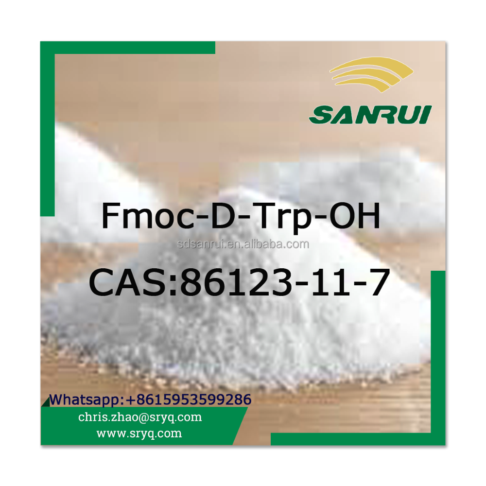 High quality Protected Amino Acid Fmoc-D-Trp-OH CAS 86123-11-7