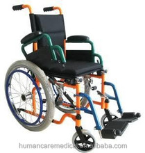 Foldable children powder coating Pediatric wheelchair with wheelchair racks