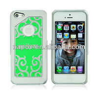 Napov - Dog & Bone Unique Products Tattoo Green Metal Pattern Cell Case for Phone Apple iPhone 5s Accessories