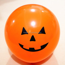 Pumpkin Printed Smiling Face Balloons For party for decoration For Halloween balloon