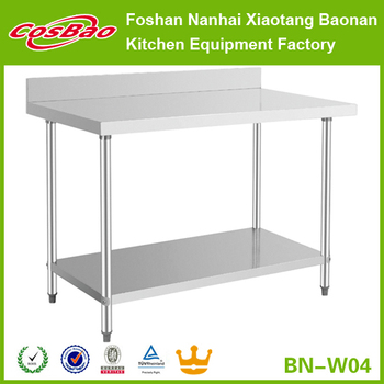 Commercial Kitchen Prep Plain Worktop Stainless Steel KD Working Table BN-W04 return on investment