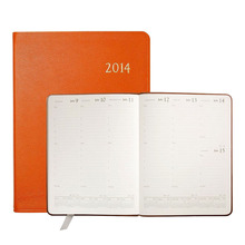 2014 red lichee/litchi pu japanese student or business event diary day planner hardcover notebook