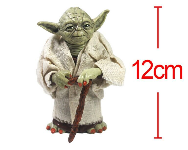 (Hot Hot) Customized Plastic PVC Mini Yoda Action Figure Maker, 3D Custom Anime Action Figure, Yoda with Cane Action Figure