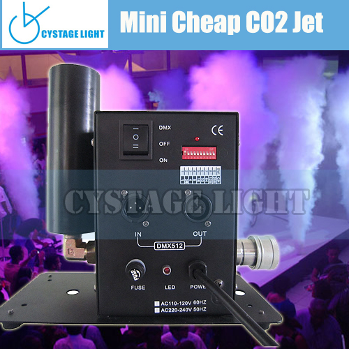 Disco Club Decoration DMX 512 control Mini 100W Stage Effect Co2 Jet Machine For Stage Decoration Material