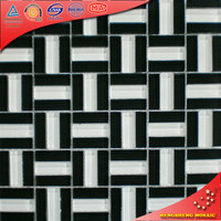 Kb12 Black And White Kitchen Wall Murals Stainless Steel Mix Glass Tiles