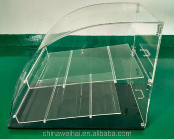 Clear Plexiglass Food Display Case