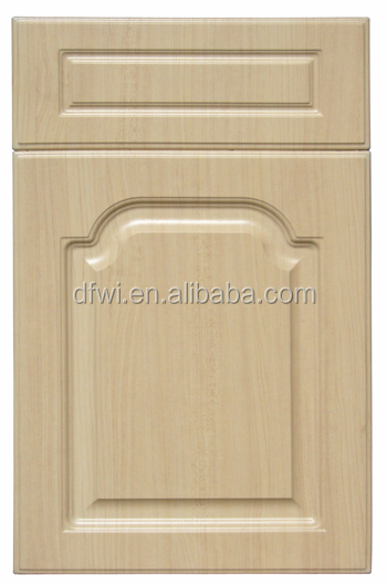 White colour glossy finish PVC kithen cabinet door