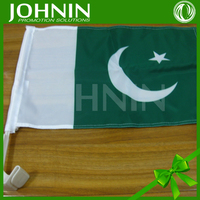 cheap wholesale 30*45cm polyester printed national pakistan car flag
