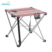 Folding picnic outdoor camping garden table with cup holder