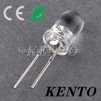 KENTO 1000pcs Ultra Bright 5mm LED Light Emitting Diode Lamp Green Water Clear Lens Round Transparent