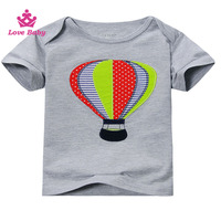 hot air balloon printed colorful rainbow kids top blouse boutique store wholesale