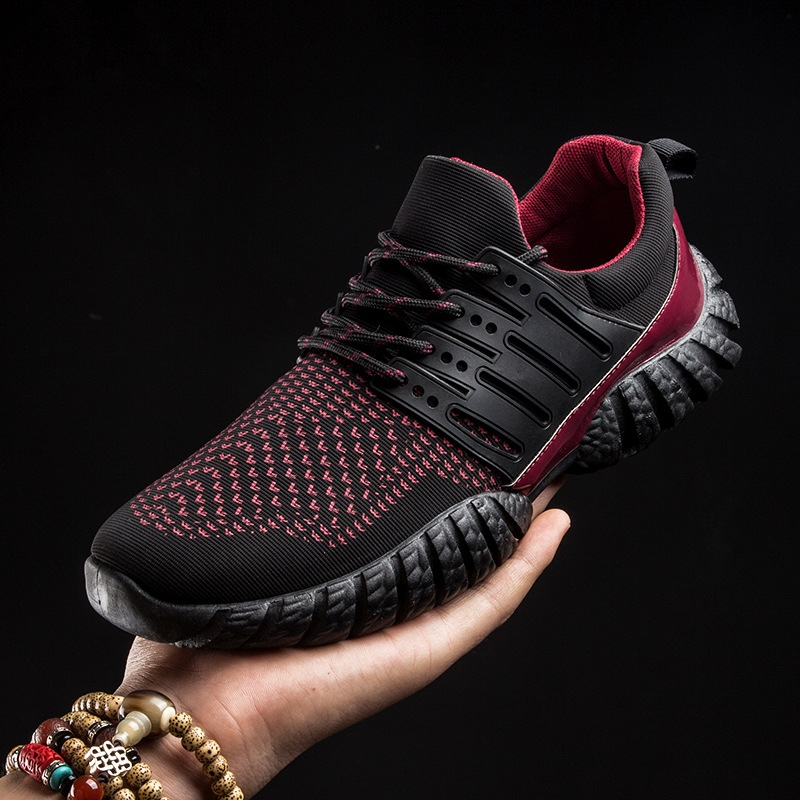 2016 Summer Fly Fabric Running Shoes Male Sport Lazy Casual Network Shoes Men Foot Wrapping Breathable Low Shoes