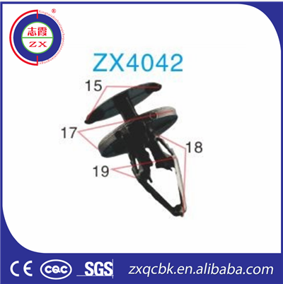 Hot !! ZX manufacture automotive plastic clips and fasteners for car