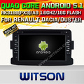 WITSON Android 5.1 CAR DVD GPS For RENAULT Dacia WITH CHIPSET 1080P 16G ROM WIFI 3G INTERNET DVR SUPPORT