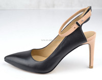 sex fashion lady women leather high heels pointed toe sandals shoes for 2015