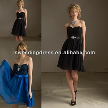 HB2033 Chiffon sleeveless royal blue bridesmaid dresses