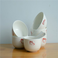 high quality low price white porcelain bowl