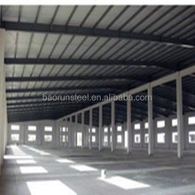 Economic and easy to build slope top prefab warehouse/shed