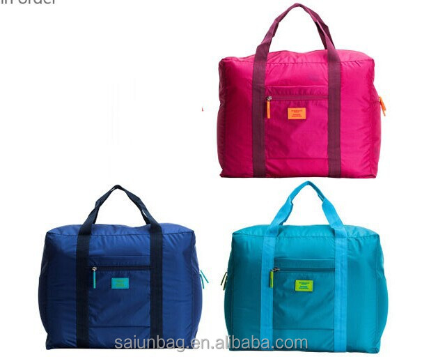 Large capacity Waterproof nylon foldable travel Luggage Bag