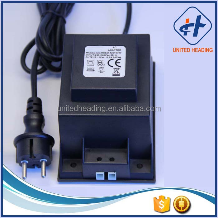 Outdoor Waterproof Transformer 200W AC12V Output for Led Underwater Light