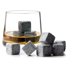 Set of 9 Grey Beverage Chilling Stones Chill Rocks Whiskey Stones for Whiskey and other Beverages