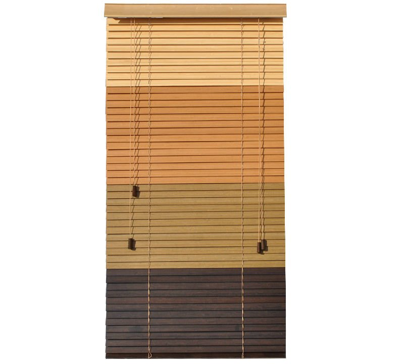 "35mm(1.5"") slats Ladder string ,Cord control,high profile metal headrail bamboo blinds"