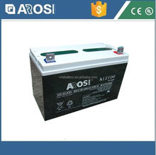 Arosi high effiency 12v 100ah solar battery atlas battery
