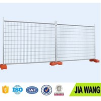 Hot-dipped Galvanized Temporary Fence Cheap Construction Site Safety Fence With Plastic Base