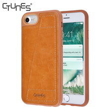 CTUNES Universal PU Leather Wallet Wth Card Slot Magnetic Back Protective Cover Case For Apple iPhone 7 / 6 /6S