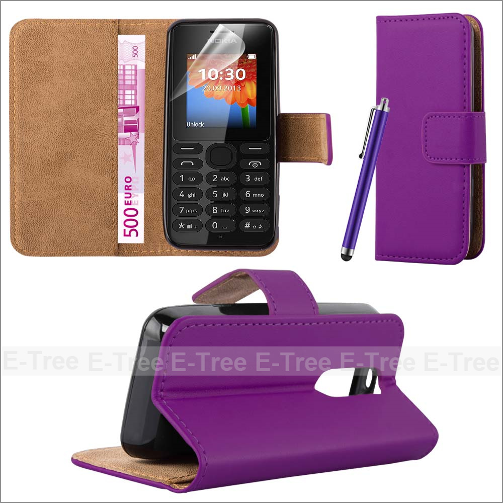 For Nokia 108 Wallet Flip Pu Leather Book Stand Mobile Phone Case Cover