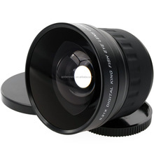 Factory supply 52mm 0.21X Fisheye Lens for Canon Nikon D700 D300 D200 D90 D70 D3000 D3100 D3200 D5000 D5100 D5200 DSLR Camera