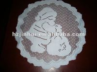 polyester knitted lace kids table mats