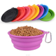 Large supply of stock 300ml or 1000ml volume custom logo Silicone collapsible pet dog bowl