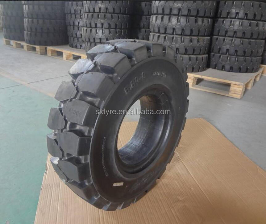 Solid rubber 600x9 industrial forklift solid tires