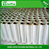 Plastic Clear PE Wrapping Pallet Film Roll With Handle