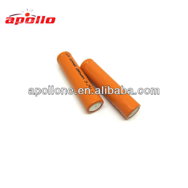 rechargeable 3.6v 800mah lithium ion cylindrical battery 16650