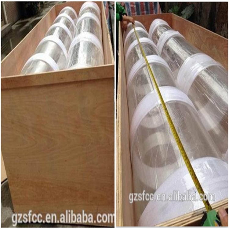 sgs led light clear polycarbonate tube plastic polycarbonate pipe