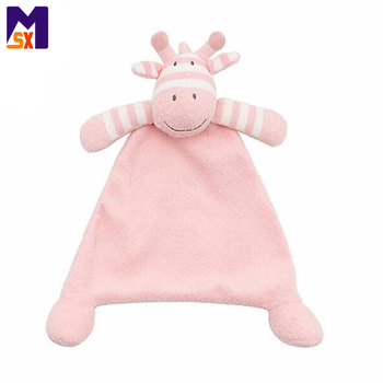Wholesale plush baby comforter blanket soft toys for baby
