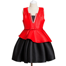 Beautiful model child formal party wear fashion design small kids girls dress
