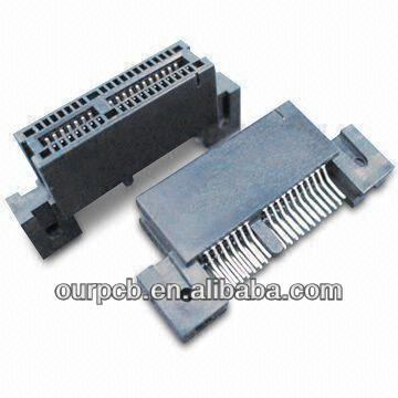 Edge Card Connector with Brass/Phosphor Bronze Contact and Tin/Lead Plating Terminal