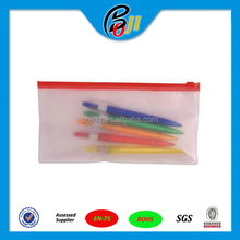 clear pvc vinyl sliding closure pouch