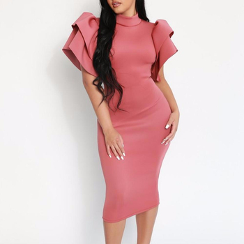 Sexy hot open party wear knee length cocktail dresses