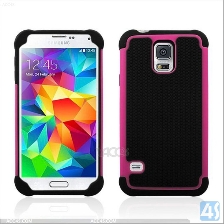 Robot PC Silicone Hard Case for Samsung Galaxy S5 P-SAMS5HYBC008