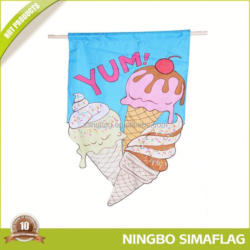 cheap nylon material fabric top quality decorative country garden flag