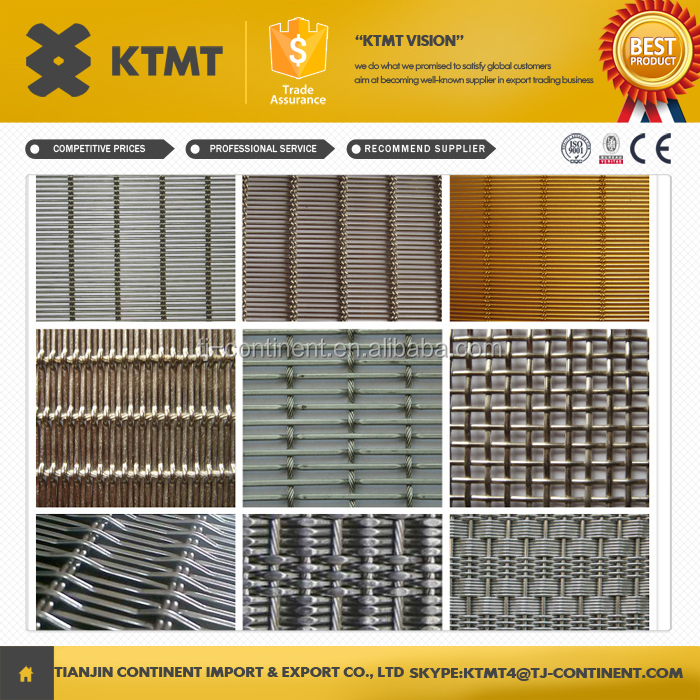 Best selling curtain wall woven decorative metal mesh/decorative metal mesh drapery made in china
