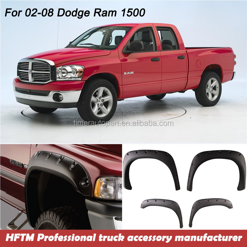 For Dodge truck short/long bed accessory Truck Flares for Dodge Ram 1500 02-08