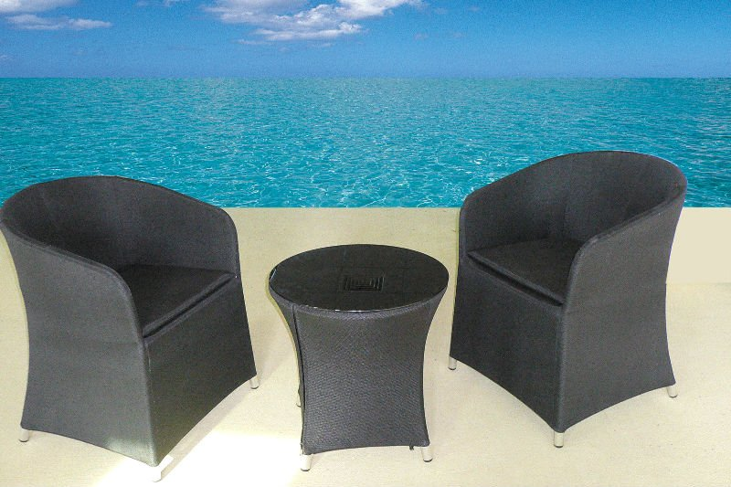 3 pieces PVC fabric sofa set outdoor furniture