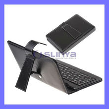 PU leather Pouch Bag 7 Inch Tablet Bluetooth Keyboard for iPad Mini